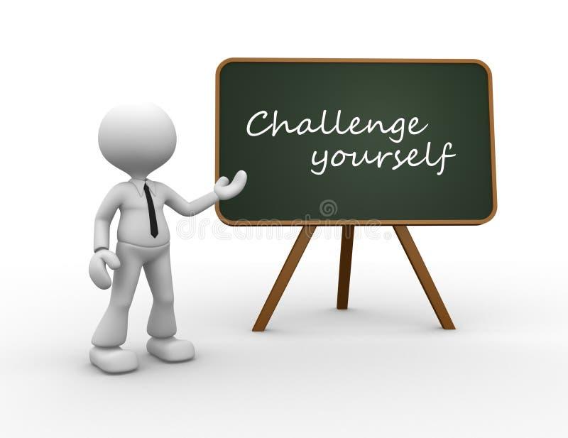Herausforderung sich lizenzfreie abbildung