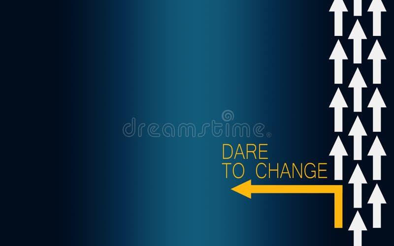 Herausforderung, zum mit Drehenpfeil zu ändern lizenzfreie abbildung