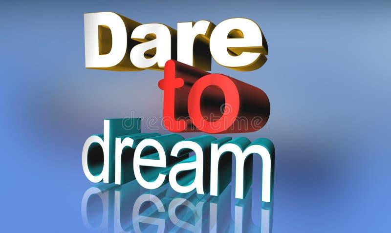 Herausforderung zum Traum lizenzfreie abbildung