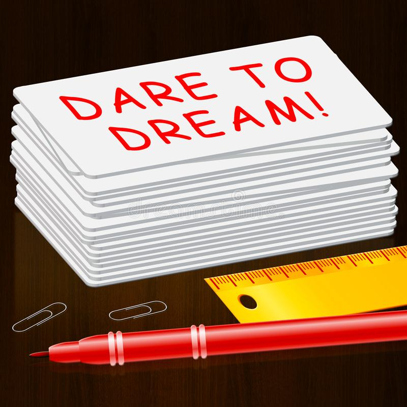 Herausforderung zum Traum bedeutet Illustration der Fantasie-3d stock abbildung