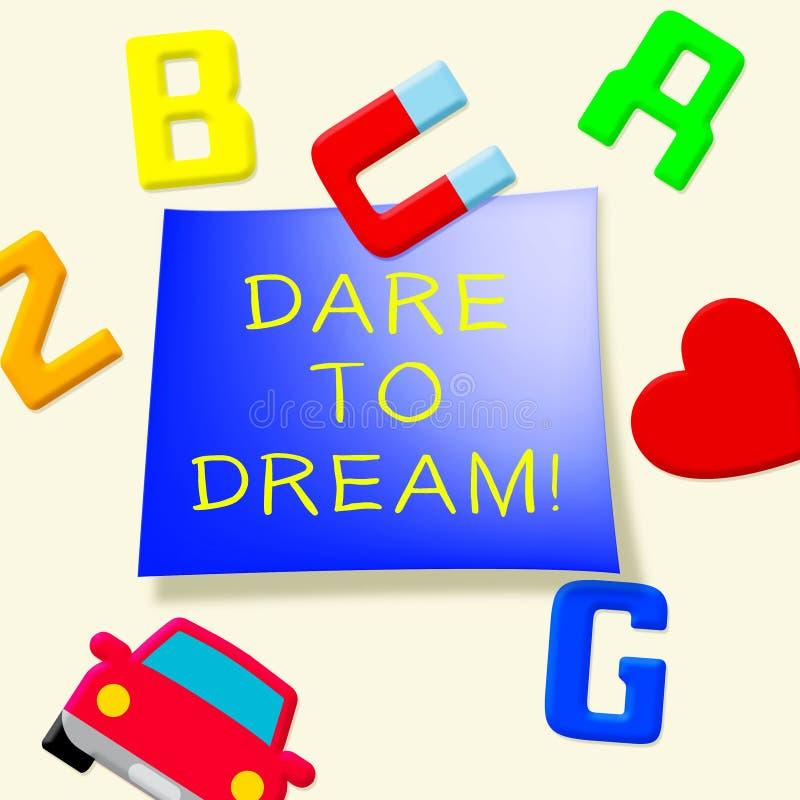 Herausforderung zum Traum, der Illustration der Ziel-3d anzeigt stock abbildung