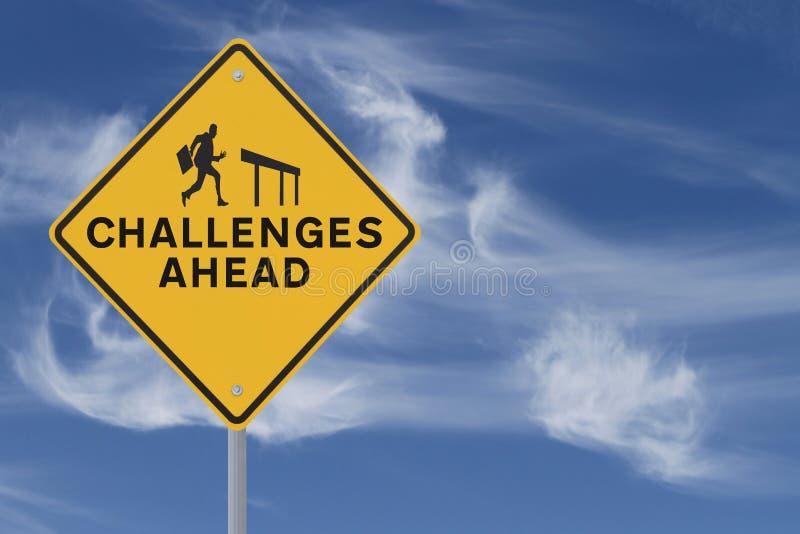 Herausforderungen voran lizenzfreie stockfotografie