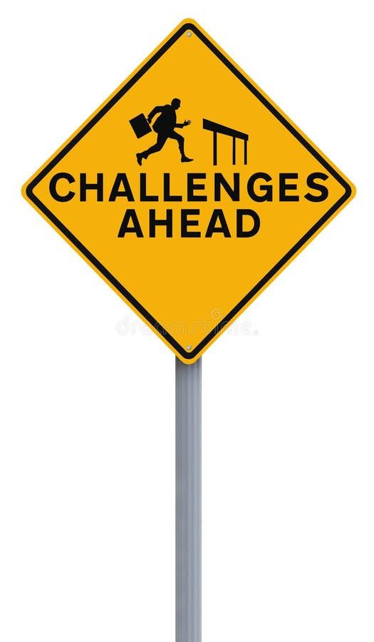 Herausforderungen voran stockbilder