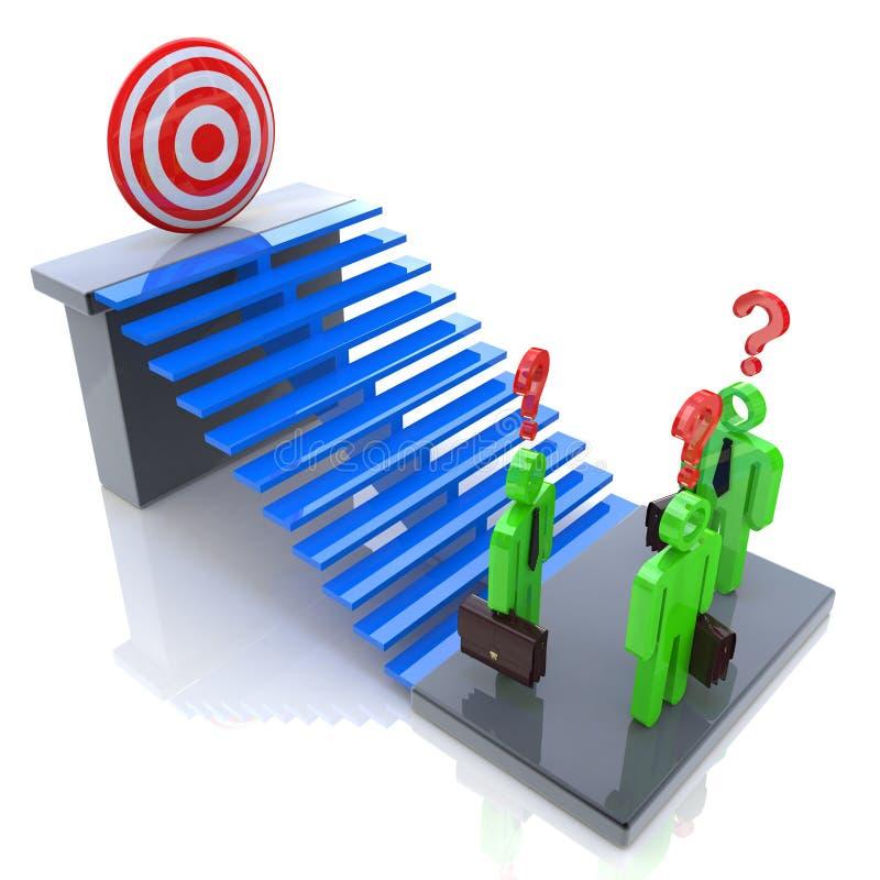 Herausforderungen zum Erzielen des Ziels stock abbildung