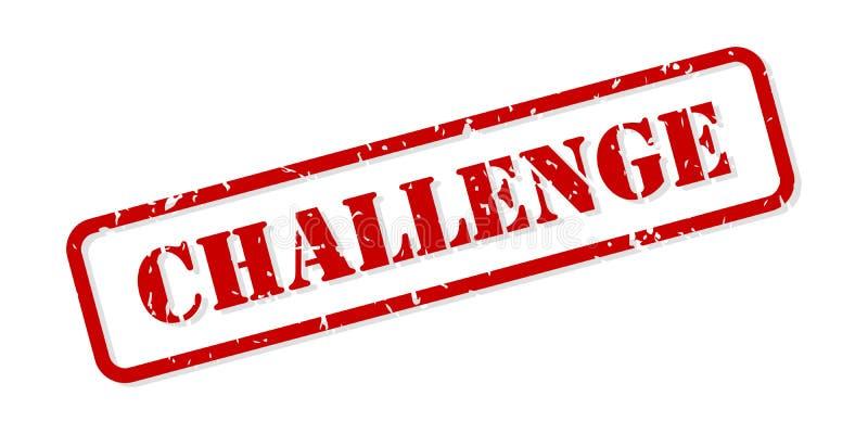 Herausforderungs-Stempel-Vektor lizenzfreie abbildung