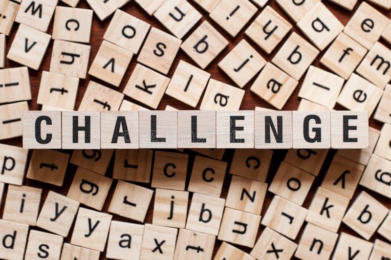 Herausforderungs-Wort-Konzept stockbild