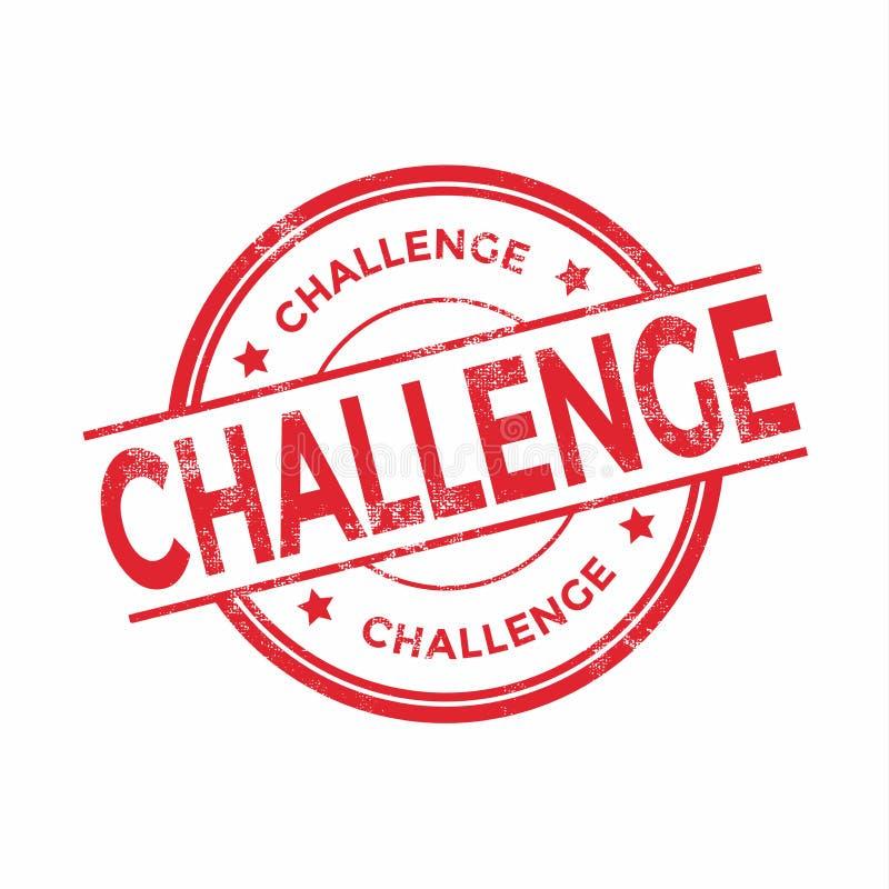 Herausforderungsstempel auf weißem Hintergrund stock abbildung
