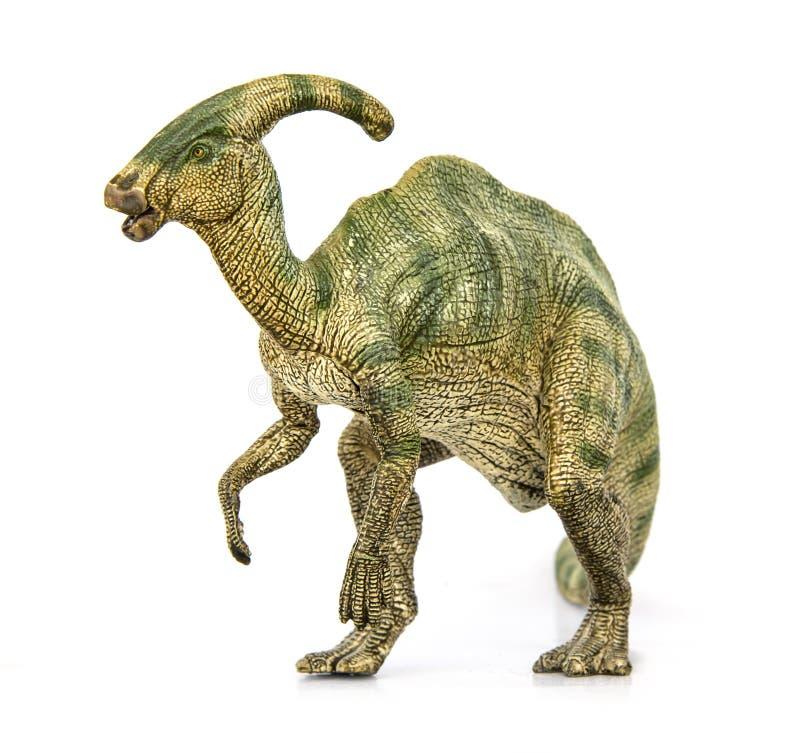 Herbívoros dos dinossauros de Parasaurolophus fotos de stock