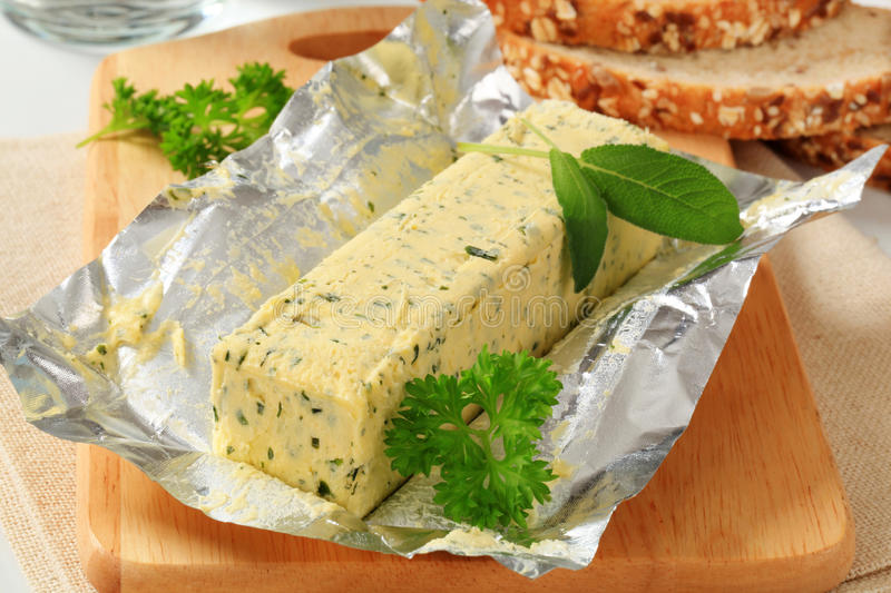 Herb Butter image stock