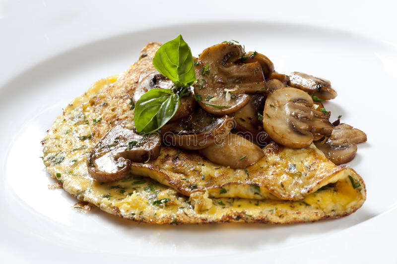 Herb and Mushroom Omelette royalty free stock photo