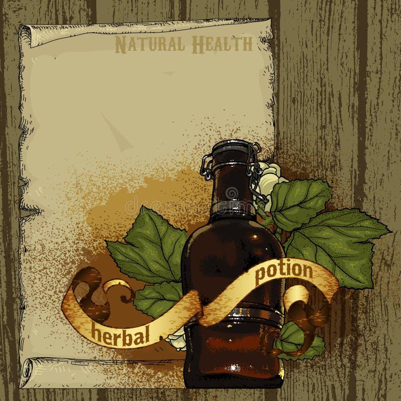 Download Herb naturalnych ilustracja wektor. Ilustracja złożonej z tradycyjny - 53780144