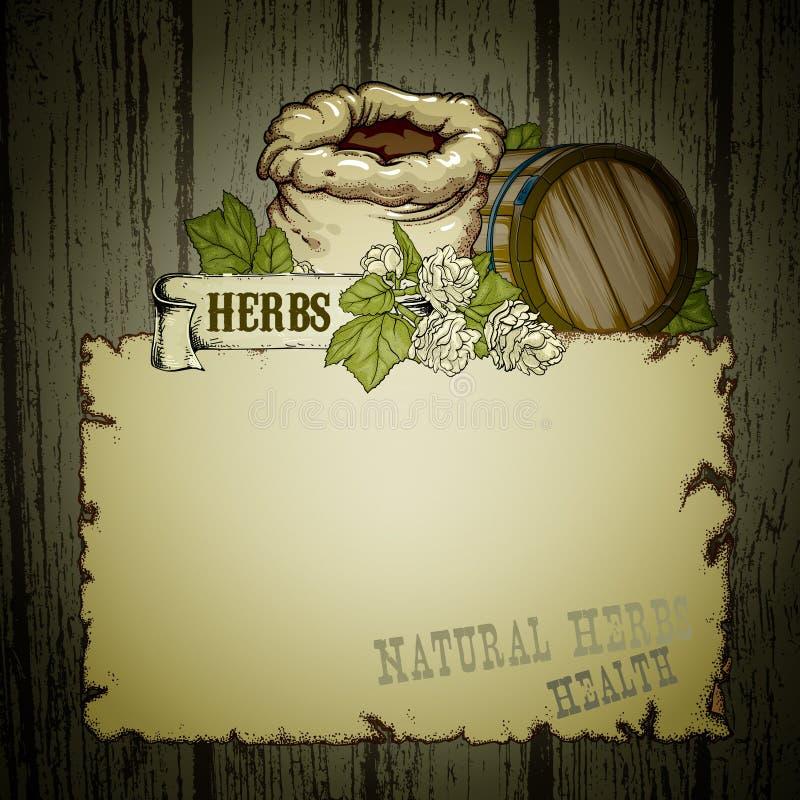 Download Herb naturalnych ilustracja wektor. Ilustracja złożonej z podskakuje - 53780959