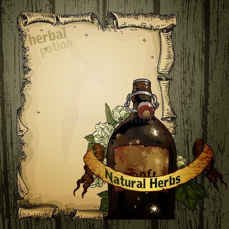Download Herb naturalnych ilustracja wektor. Ilustracja złożonej z sztandar - 53781115