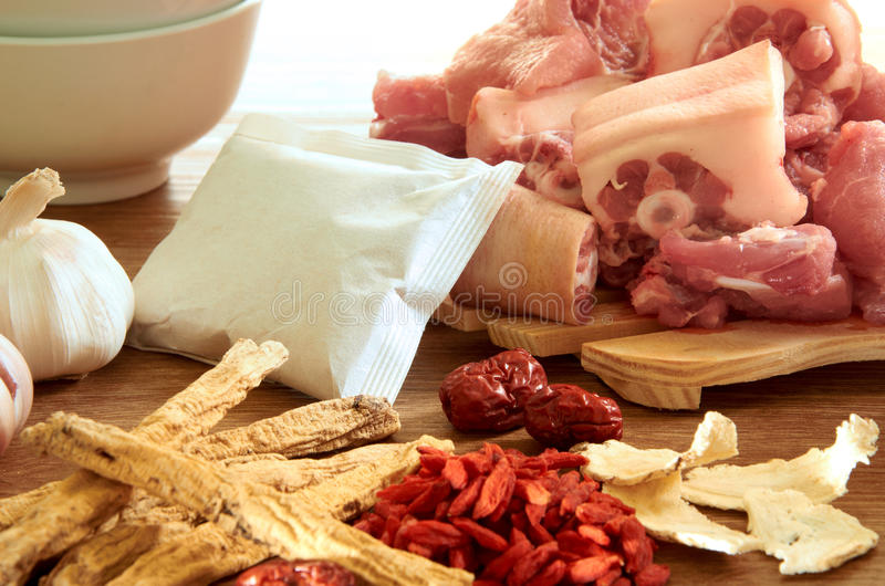 Download Herb With Pork stock photo. Image of trea, setup, traditional - 22649020