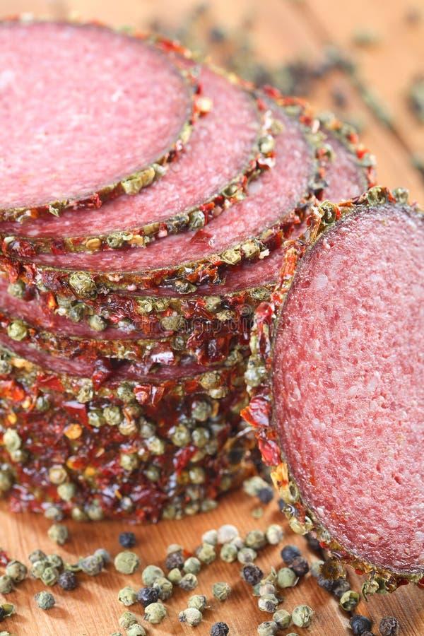 herb salami przyprawy obraz stock
