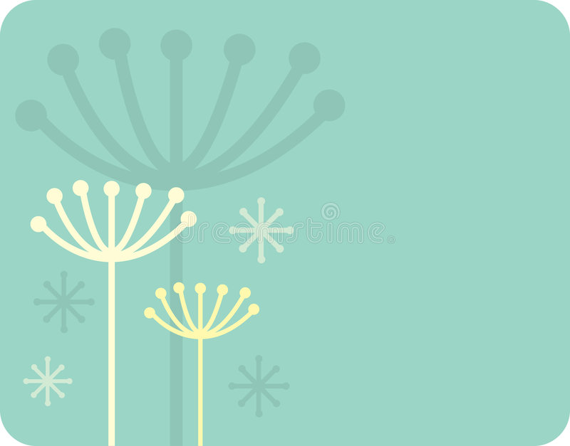 Herb silhouette. Retro vector background royalty free illustration