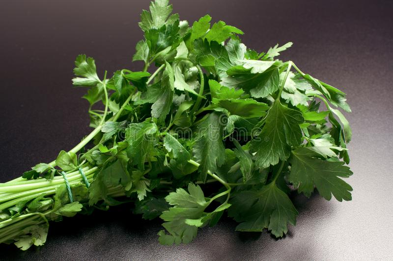 Vegetables/Spice: fresh green parsley royalty free stock photos