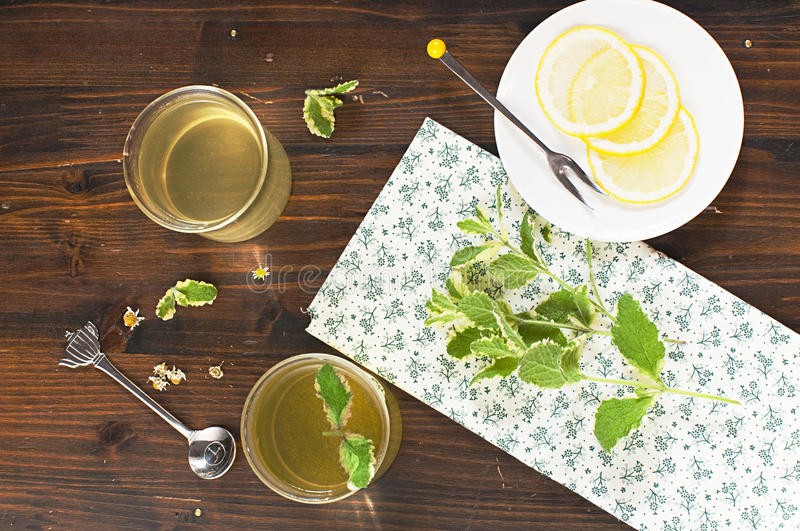 Download Herb tea stock image. Image of lemon, table, drink, refresh - 25763455