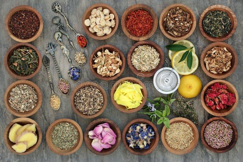 Herb Tea Sampler foto de stock royalty free