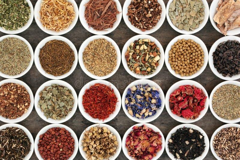 Herb Tea Selection foto de stock