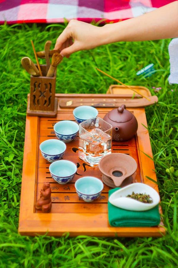 Herbaciana ceremonia na trawie zdjęcia royalty free