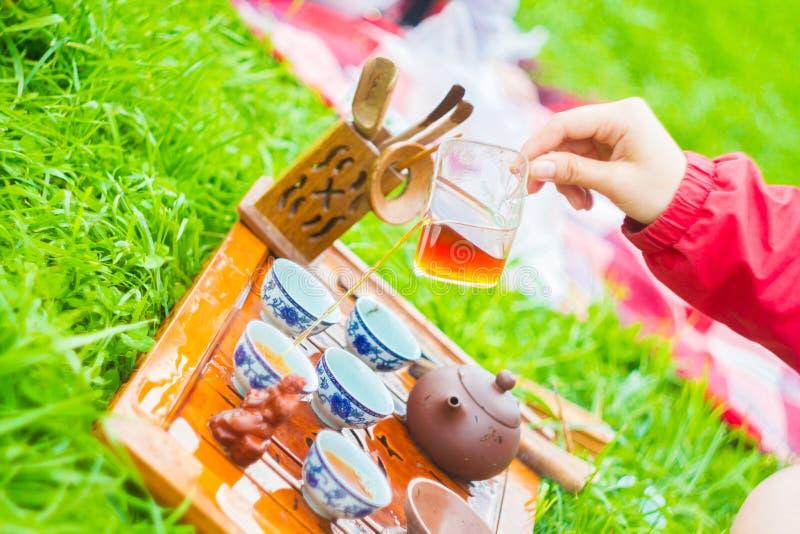 Herbaciana ceremonia outdoors zdjęcia royalty free
