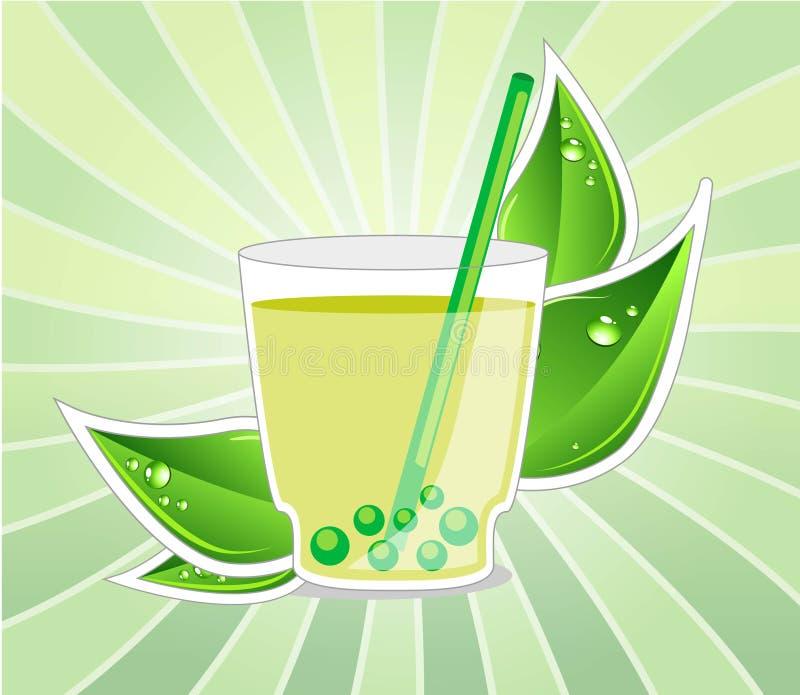 Herbaciana filiżanka ilustracji