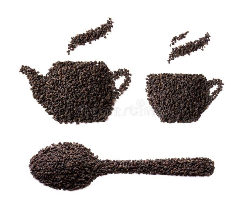 Herbaciana granuli postać na białym tle fotografia stock