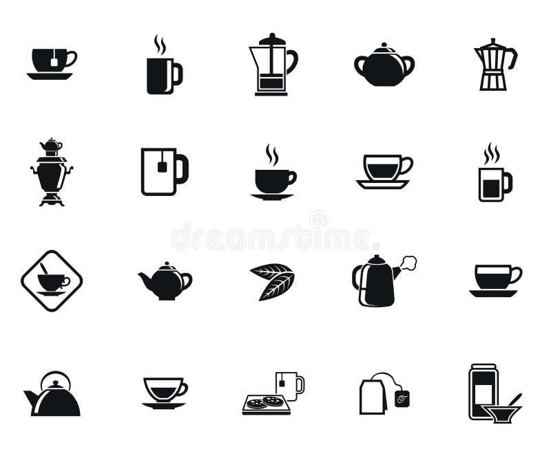 Herbaciane ikony ilustracji