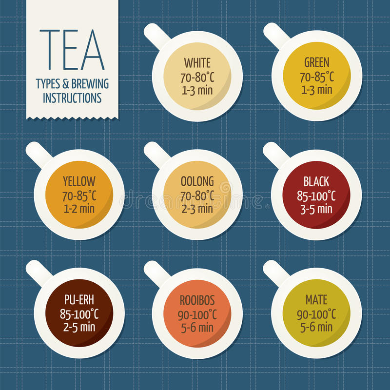 Herbaciane rozmaitość i browarniane instrukcje Stromy czas ilustracja wektor