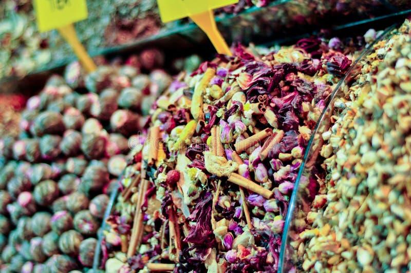 herbaciane targowe Istanbul egipskie pikantność zdjęcie royalty free