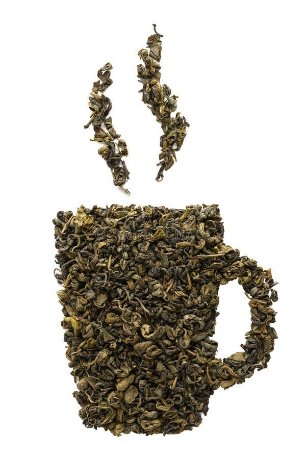 Herbacianej filiżanki ikona robić susi Oolong herbaciani liście odosobniony obrazy stock