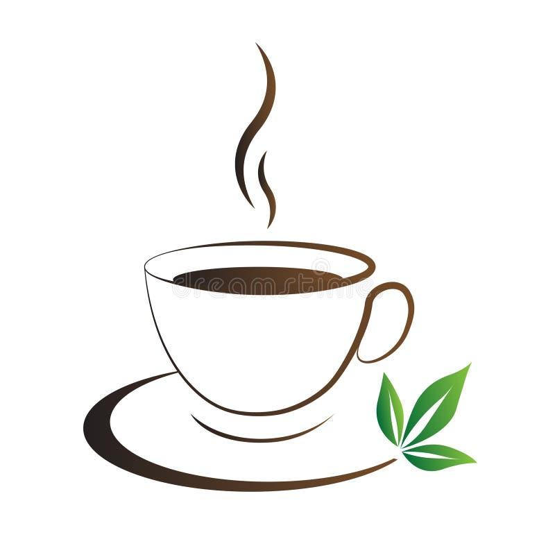 Herbacianej filiżanki ikony brąz ilustracja wektor