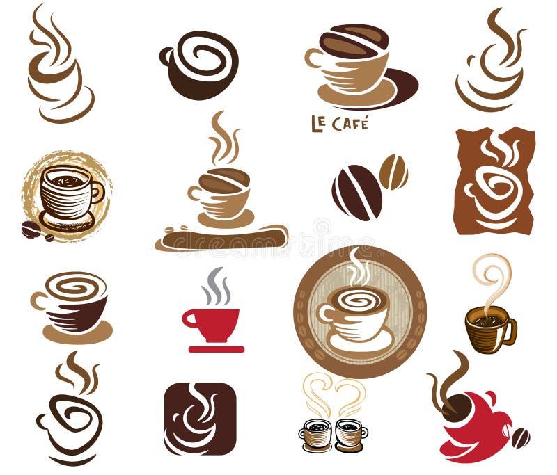herbaciani projektów kawowi elementy ilustracji