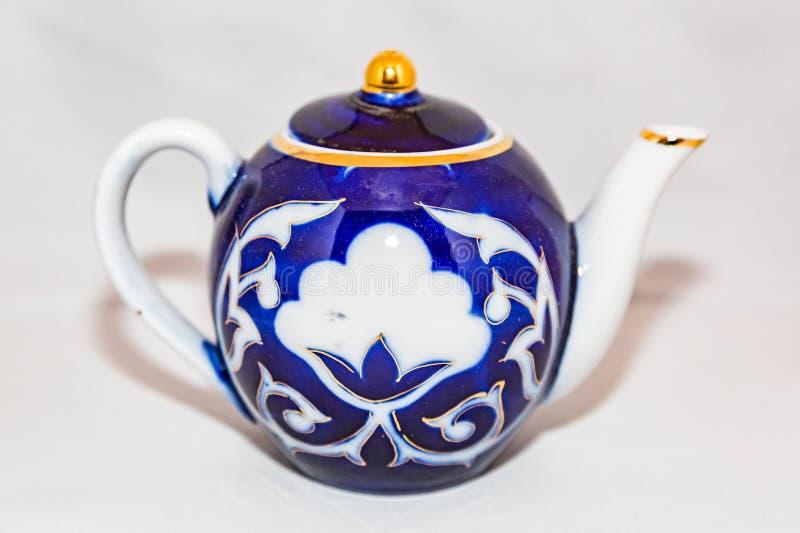 Herbaciany czajnik dla gorącej herbaty obraz stock