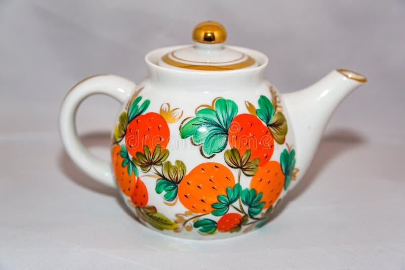 Herbaciany czajnik dla gorącej herbaty obrazy royalty free