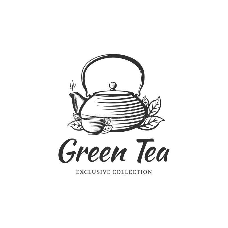Herbaciany logo ilustracji