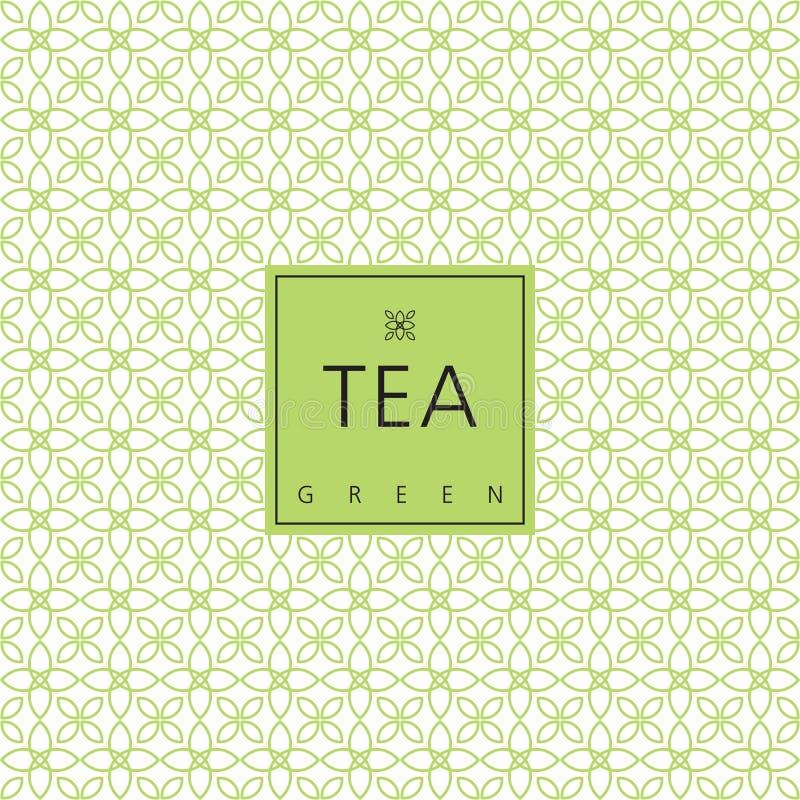 Herbaciany pakować szablonu projekta element Swatch bezszwowy wzór ilustracji