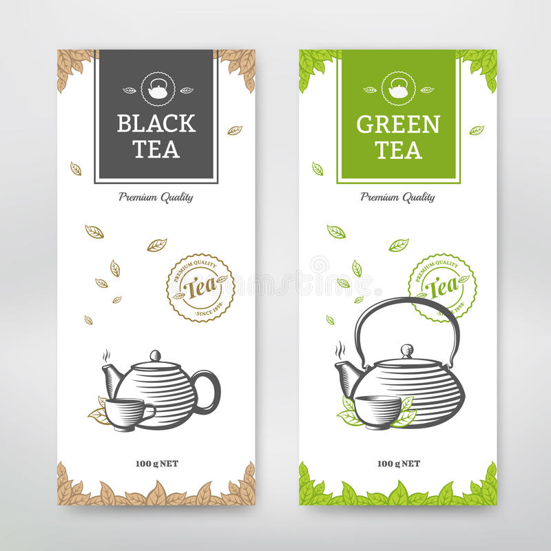 Herbaciany projekta pakunek ilustracja wektor