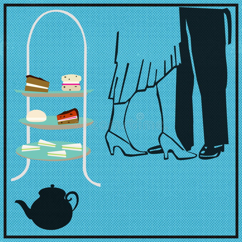 Herbaciany taniec royalty ilustracja