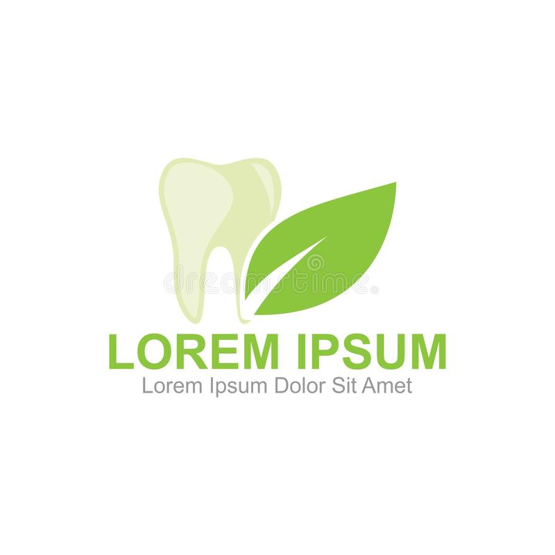 Herbal Dental Logo. Template, Can be used for personal and Corporate Business royalty free illustration