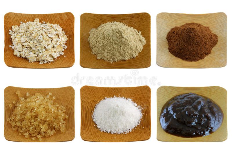 Download Herbal Facial Mask And Body Scrub - Exfoliating Po Stock Photo - Image: 23411064