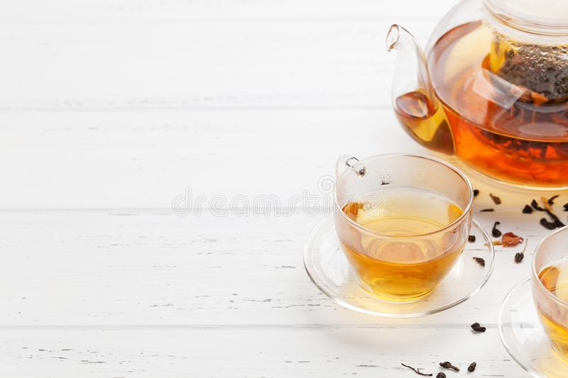 Herbal and fruit tea royalty free stock images