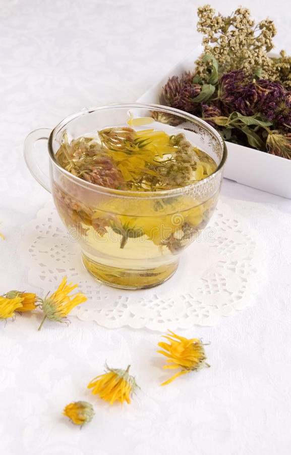 Herbal medical tea stock photos