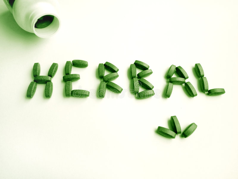 Herbal medicine supplement royalty free stock image