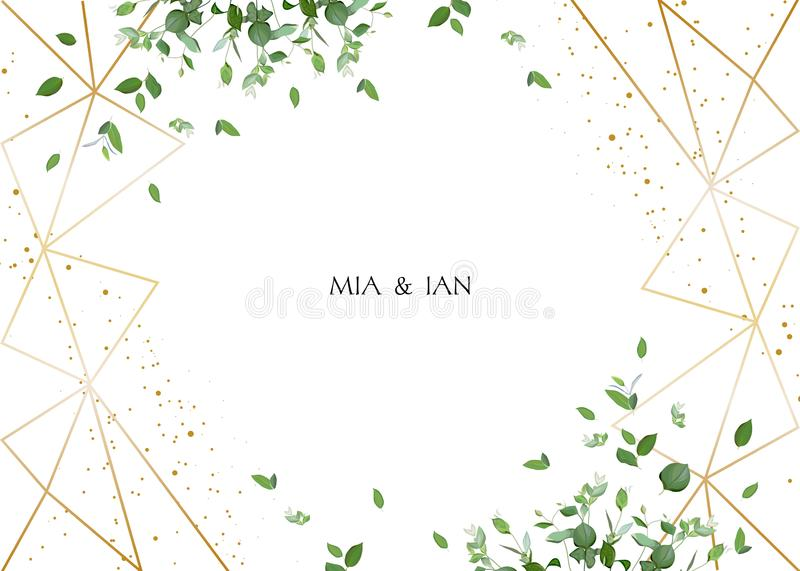Herbal minimalistic horizontal vector frame vector illustration