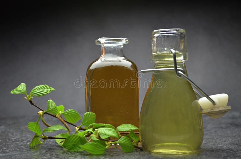 Herbal natural tincture royalty free stock image