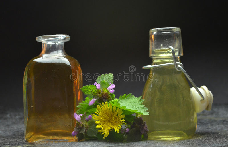 Herbal natural tincture royalty free stock images