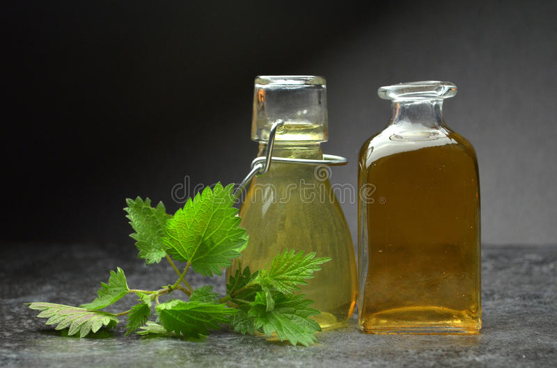Herbal natural tincture stock images