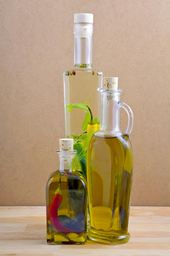 Herbal and olive oil royalty free stock photography